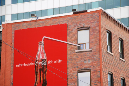 Street marketing coca cola