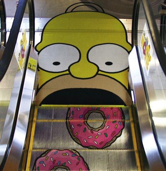 Street marketing : pubblicità sulle scale mobili