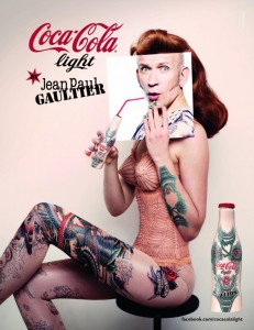 Coca cola e jean paul gauthier tatuaggi temporanei
