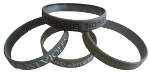 braccialetti di silicone metallici