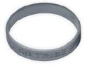 braccialetto di silicone argentato