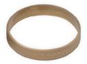 braccialetto di silicone dorato