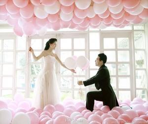 Un matrimonio da sogno grazie ai palloncini personalizzati