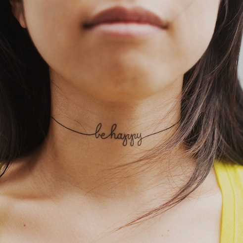 Be happy: i tatuaggi temporanei della felicità