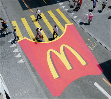 Lo street marketing di Mc Donald's