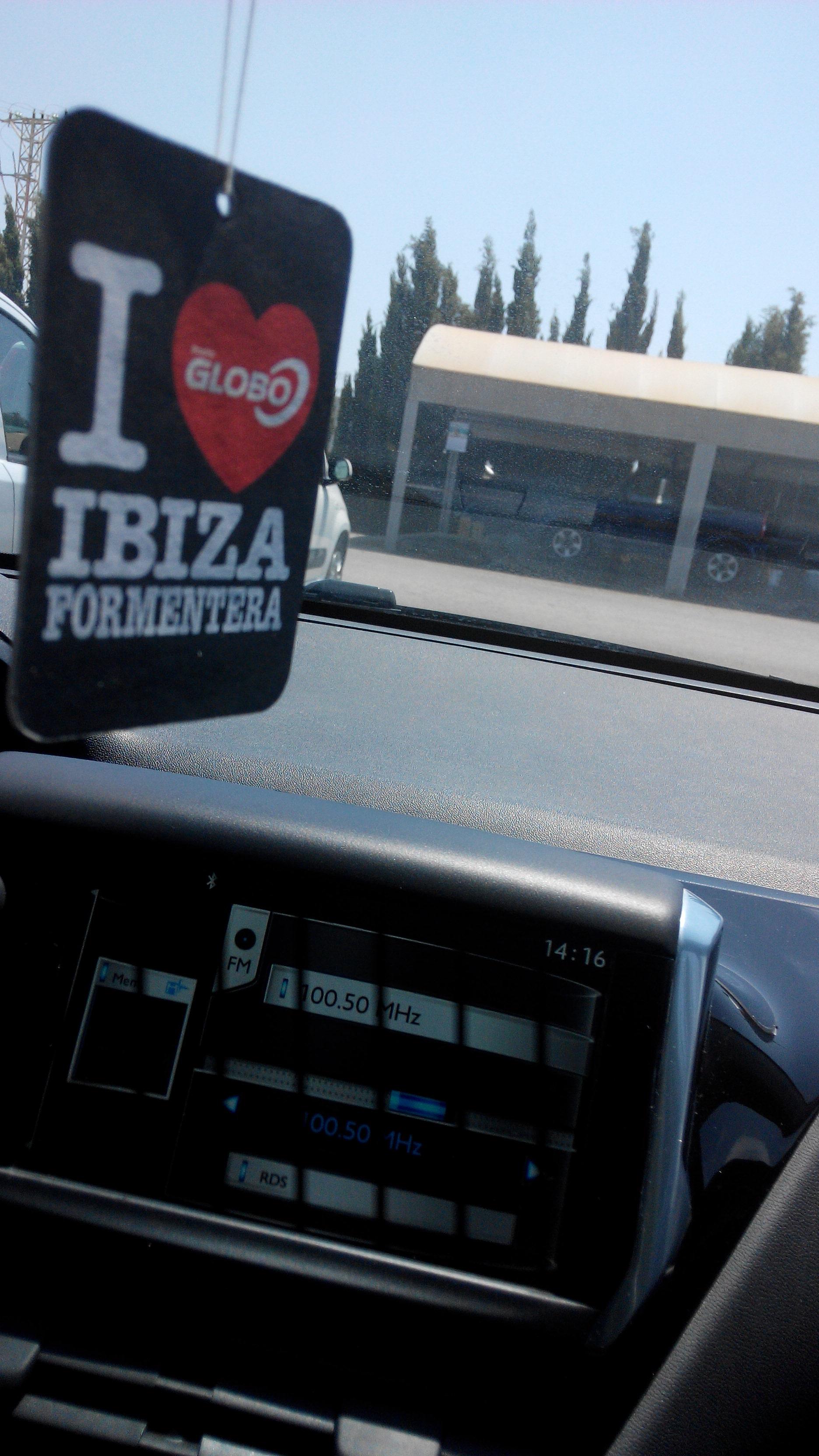I deodoranti di macchina Radio globo : profumate Ibiza