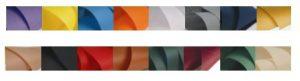 colori della tela in tessuto