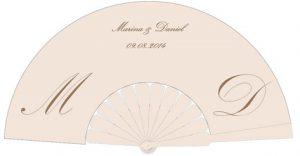 ventaglio personalizzato per matrimonio